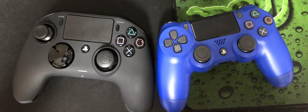 ナコンと純正PS4コントローラー