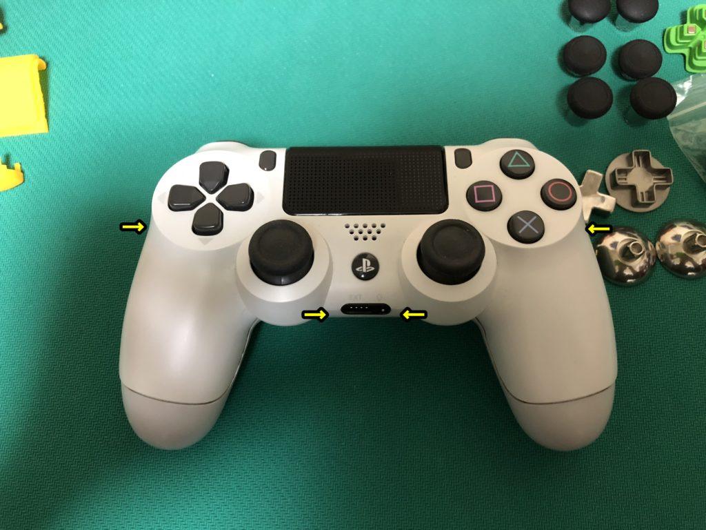 PS4コントローラー修理の流れ
