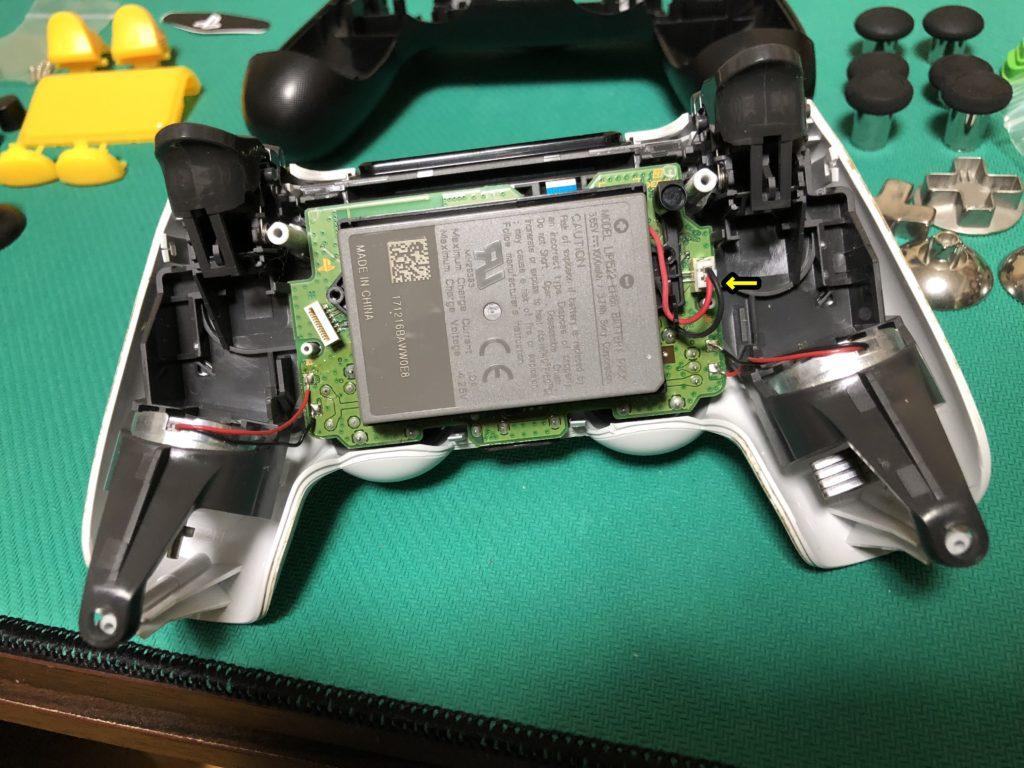 PS4コントローラー修理の流れ 分解