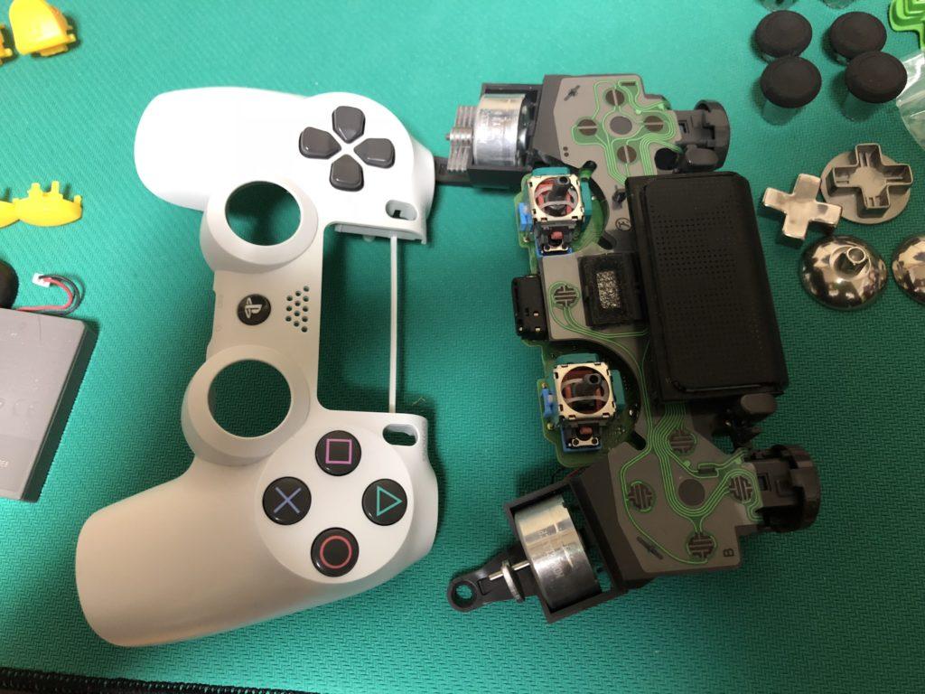 PS4コントローラー修理の流れ スティック