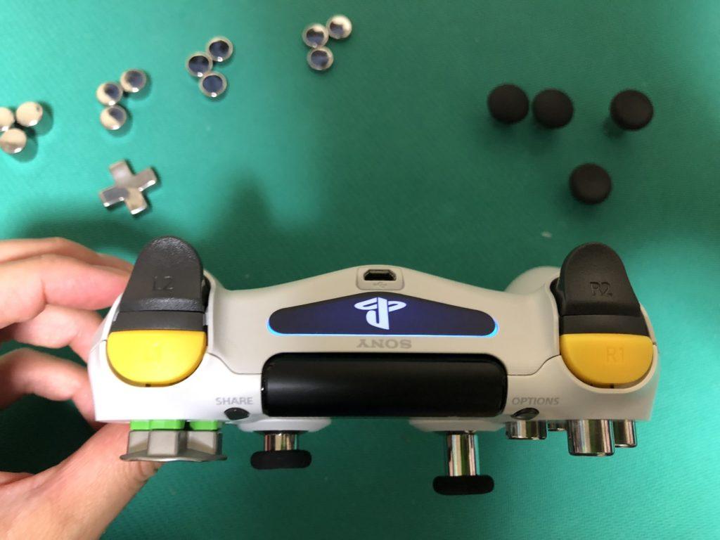 PS4コントローラー改造 R1・L1