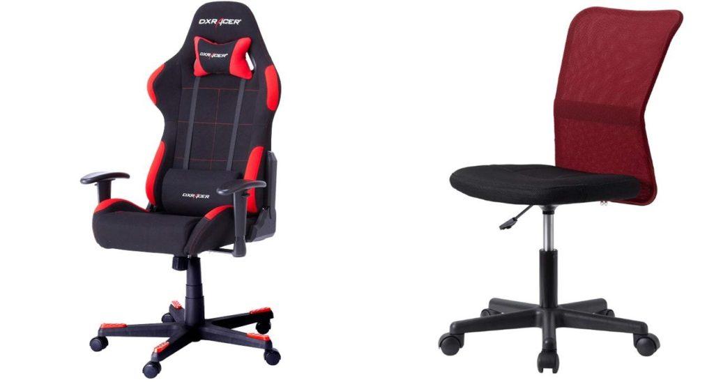 ゲーミングチェアと普通の椅子
