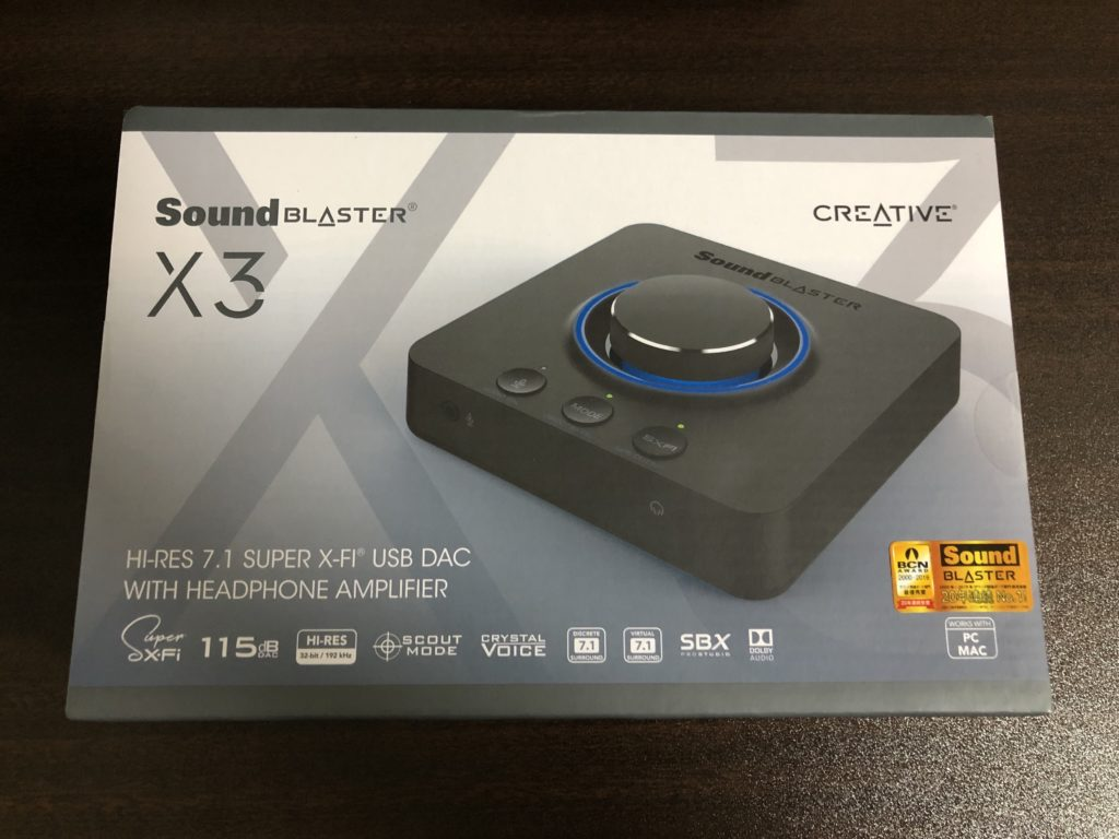 soundblaster X3 箱