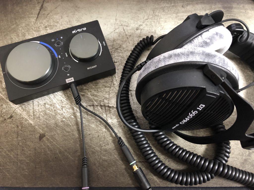 DT990 PRO +ミックスアンプ