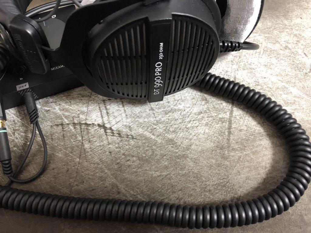 DT990 PRO カールケーブル